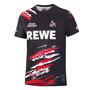 Scharzes FC Köln Shirt mit rot-weißem Muster