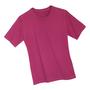 Rotes T-Shirt, Freisteller gelegt auf weiß